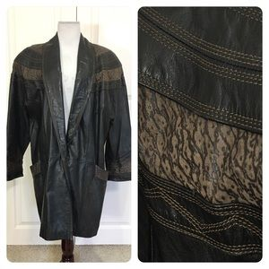 Vintage Avanti leather coat